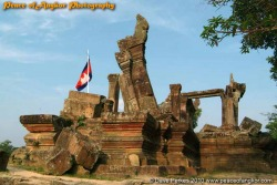 Preah Vihear and Cambodian Flag