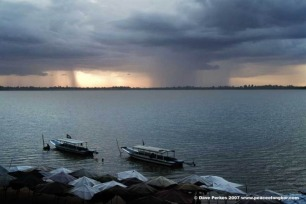Western Baray prior to a storm